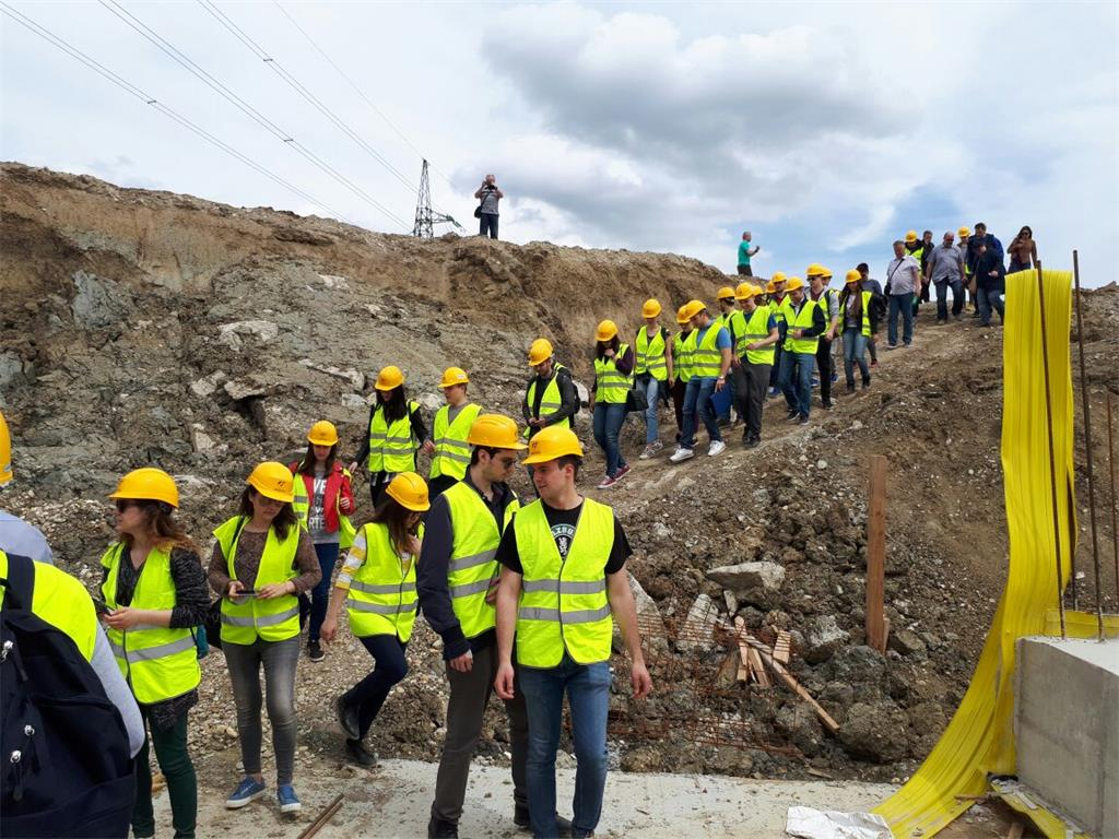 Field work for Civil Engineering students at the construction site of the Transport Sesvete collector - CUPOV
