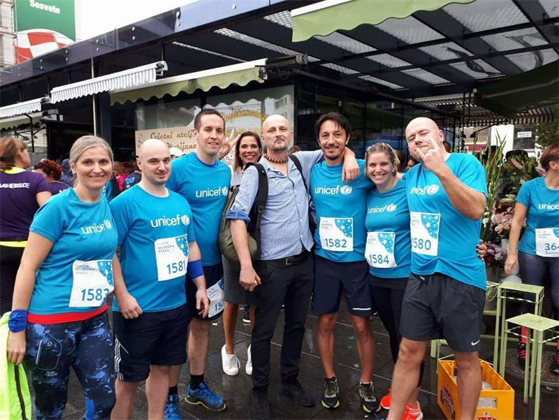 Employees of Vodoopskrba i odvodnja participated in the UNICEF's humanitarian race